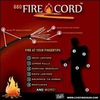 TBS 550 Paracord FIRECORD Survival Bracelet - Ferro Rod Toggle Variant
